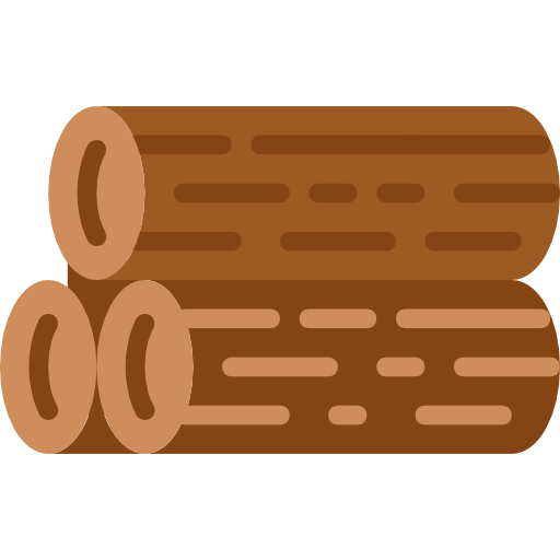 Log, Wooden, Wood, Nature Icon