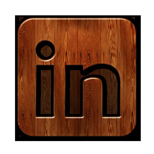 Linkedin Logo Webtreatsetc Icons, Free Icons In Wood
