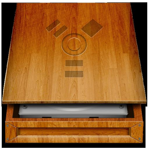 Noapple, Hd, Wood Icon