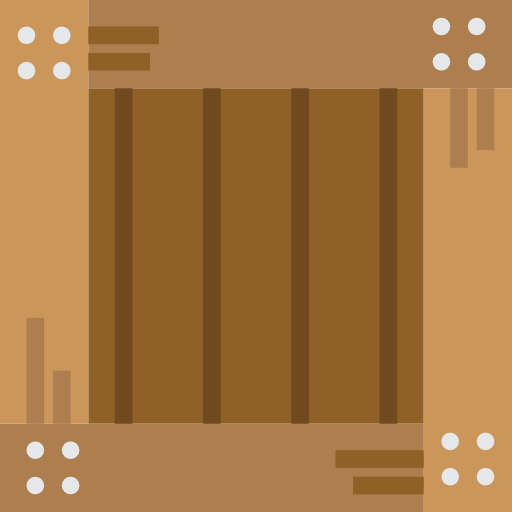 Transport, Delivery, Wooden, Crate, Wood Icon