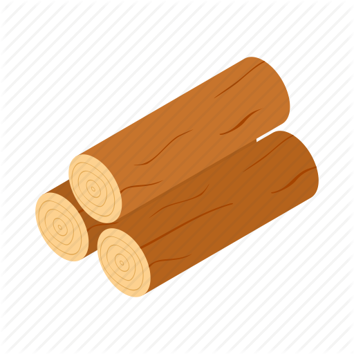 Isometric, Log, Lumberjack, Tree, Trunk, Wood, Wooden Icon