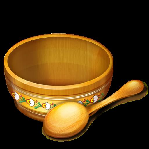 Bowl, Food, Empty, Bin, Blank, Recycle, Eat, Spoon Icon