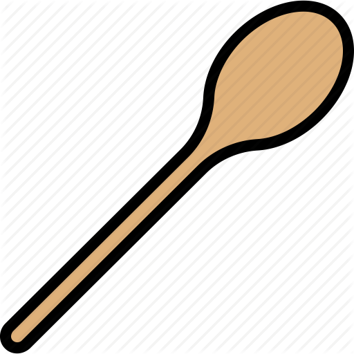 Cooking, Kitchen, Spoon, Tool, Wooden Icon