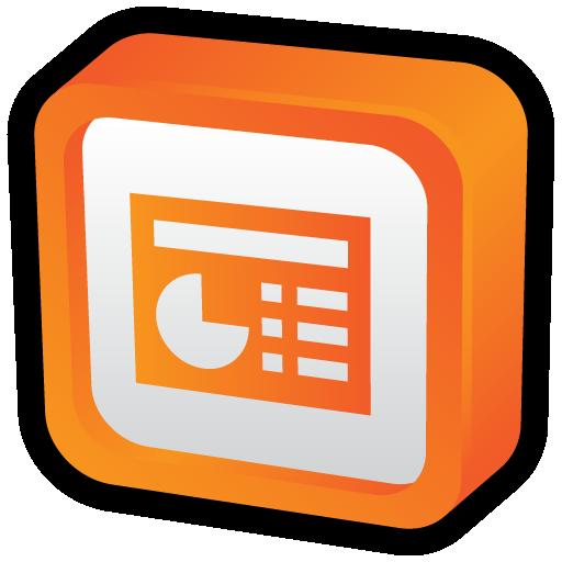 Microsoft Powerpoint Icon Cartoon Addons Iconset Hopstarter