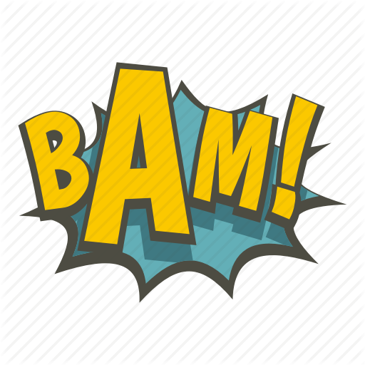 Art, Bam, Burst, Comic, Explosion, Expression, Word Icon
