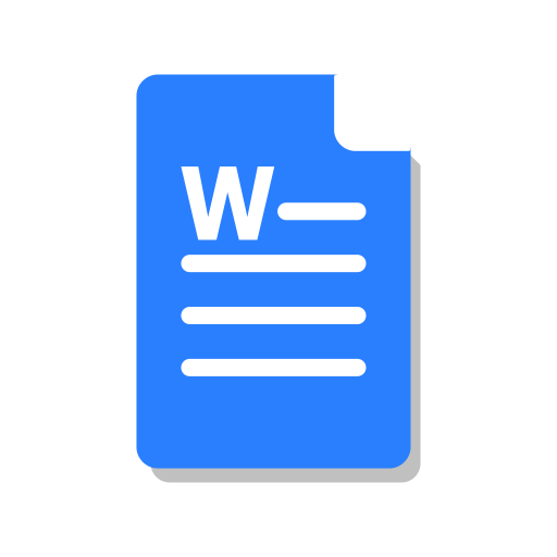 Blue, Doc, Ms, Office, Word Icon
