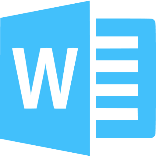 Caribbean Blue Microsoft Word Icon