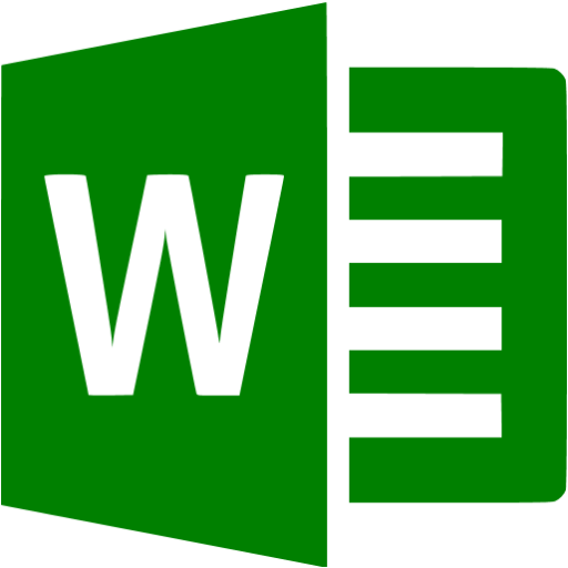 Green Microsoft Word Icon