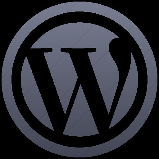 Simple Blue Gray Gradient Social Media Wordpress Icon