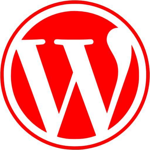 Red Wordpress Icon