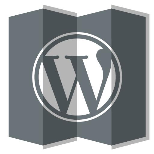 Wordpress Icon Folded Social Media Iconset Designbolts