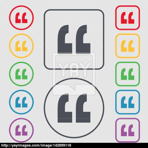 Quote Sign Icon Quotation Mark Symbol Double Quotes