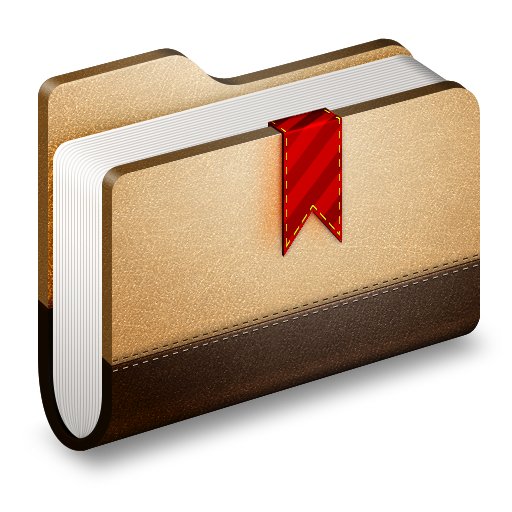 Bookmark Brown Folder Icon Alumin Folders Iconset Wil Nichols