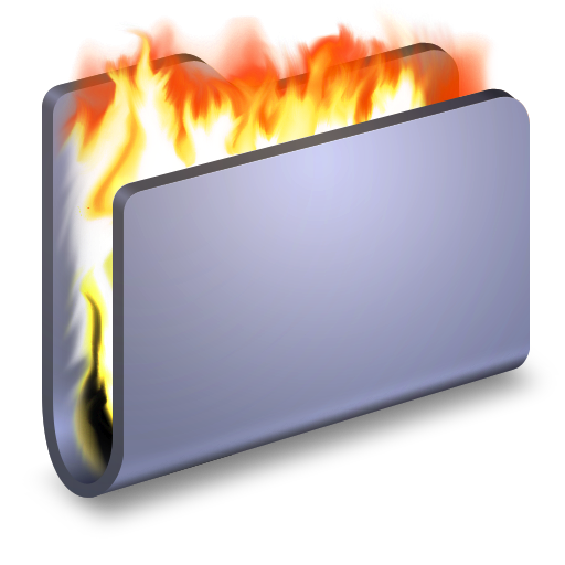 Burn Blue Folder Icon Alumin Folders Iconset Wil Nichols