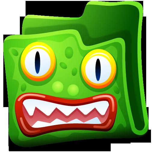 Green Folder Icon Creature Folders Iconset Fast Icon Design