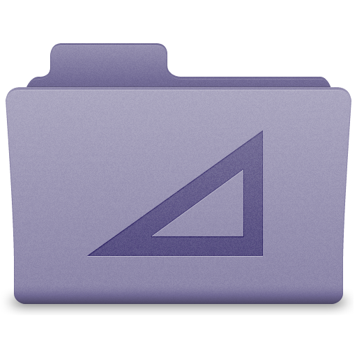 Purple Work Folder Icon