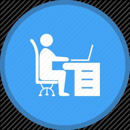 Desk, Office, Work, Work Space, Working Icon