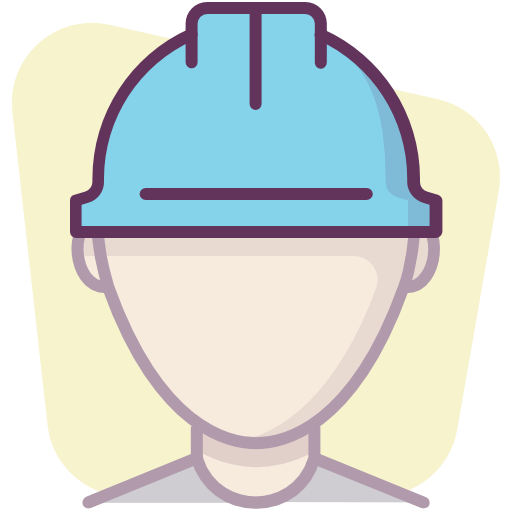 Construction, Protection, Worker, User, Helmet Icon Free