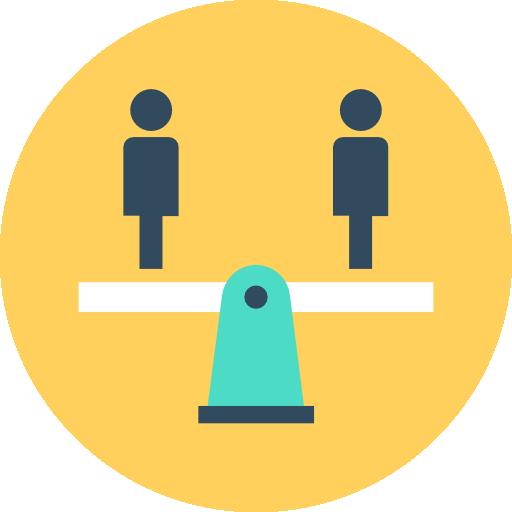 Balance Icon Human Resources Vectors Market