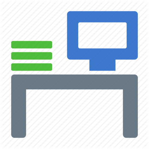Desk, Job, Office, Vacancy, Work, Workplace, Workspace Icon