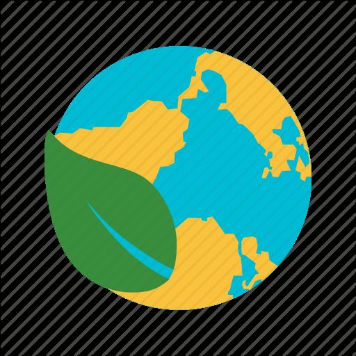 Eco World, Ecology, Environment, Globe Icon