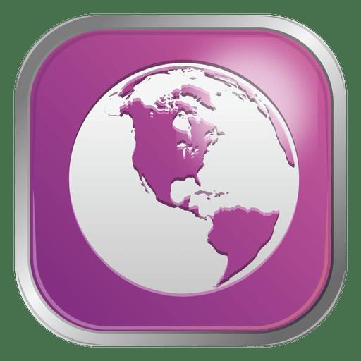 Purple Globe Icon