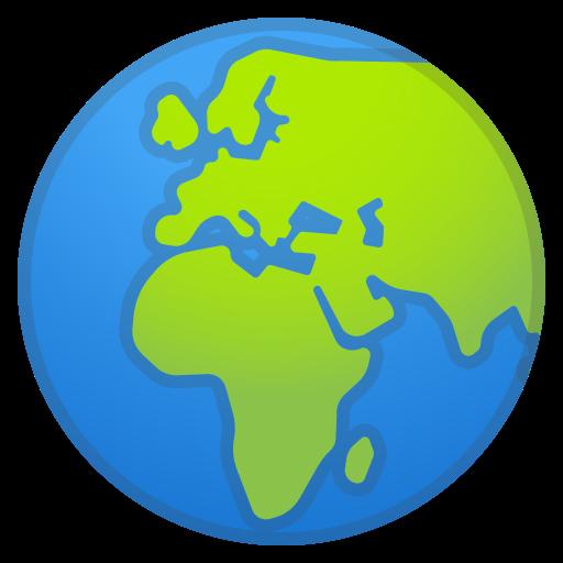 Globe, Showing, Europe, Africa Icon Free Of Noto Emoji Travel
