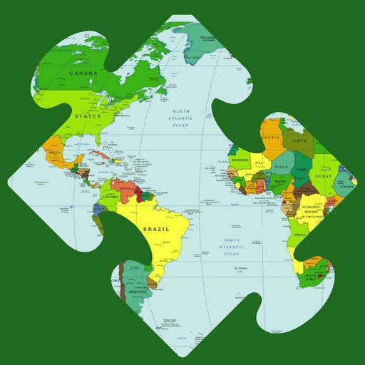 World Map Puzzle With Continents Free