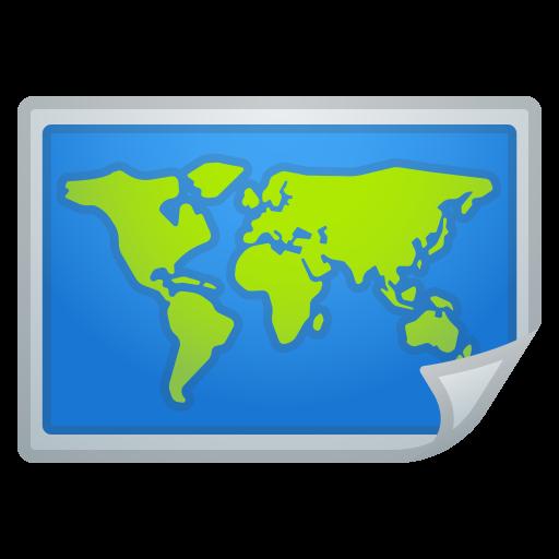 World Map Icon Noto Emoji Travel Places Iconset Google