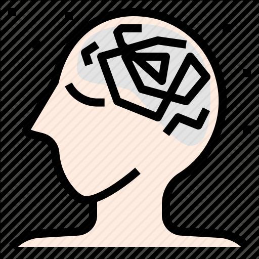Anxiety, Brain, Disease, Headache, Neurology, Stress, Worry Icon