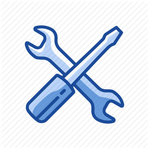 Menu Bar, Settings, Tools, Wrench And Screwdriver Icon