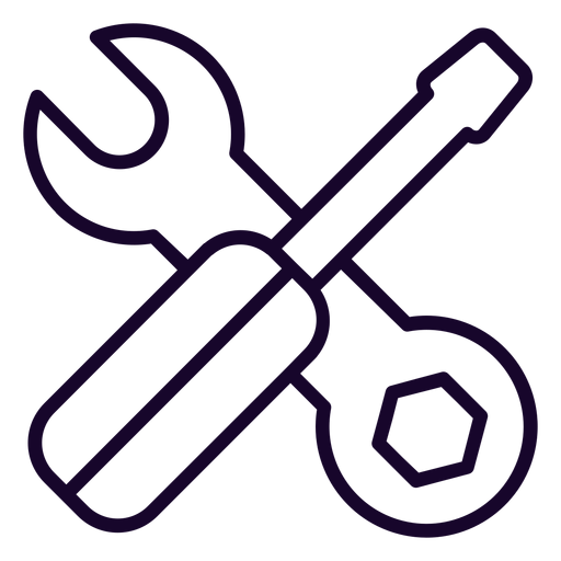 Wrench And Screwdriver Stroke Icon