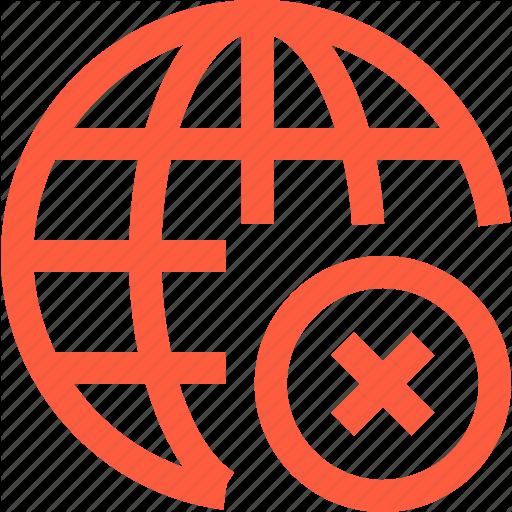 Connection, Error, Fail, Global, Internet, Network, Icon