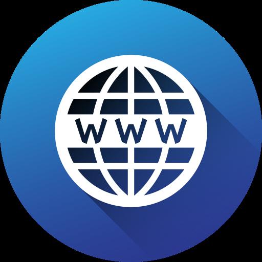 Circle, Gradient, Long Shadow, Social, Social Media, Website, Icon