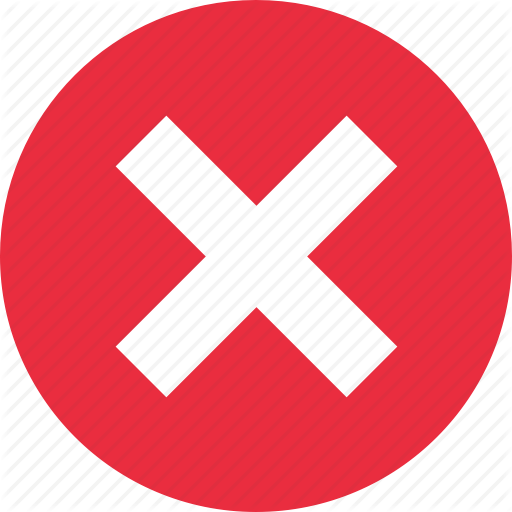 Cancel, Close, Delete, Exit, Remove, Stop, X Icon
