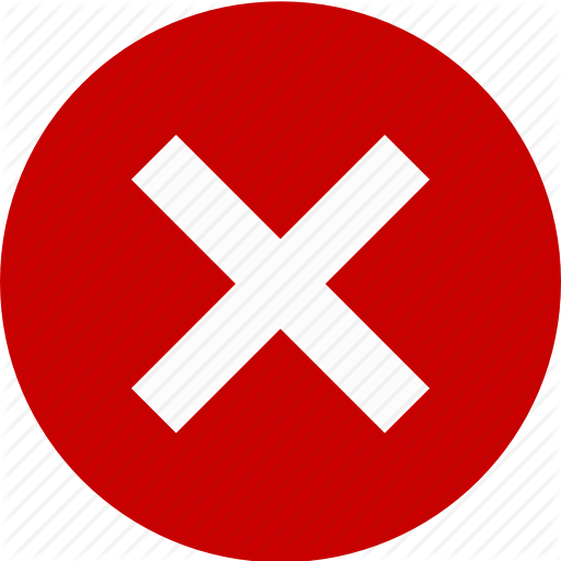 Close, Cross, Exit, Stop, Wrong, X Icon