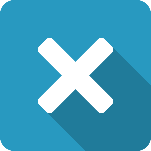 Blue, Close, Cross, Exit, Shadow, X Icon