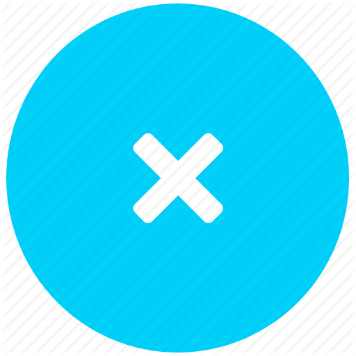 Blue, Close, Delete, Dismiss, Incorrect, X Icon