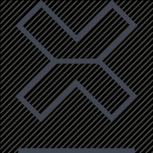 Cross, Delete, Denied, Interface, Stop, Stopped, X Icon