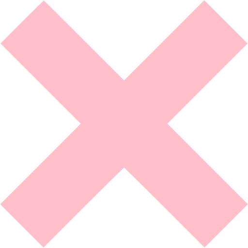 Pink X Mark Icon