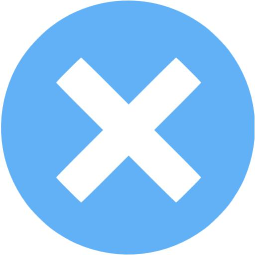 Tropical Blue X Mark Icon