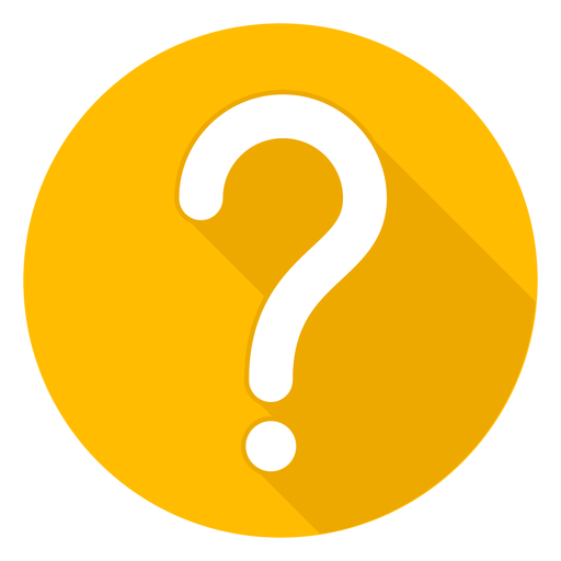 Yellow Circle Question Mark Icon