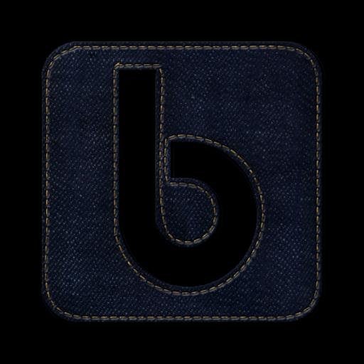 Yahoo Buzz Square Icon Blue Jeans Social Media Iconset