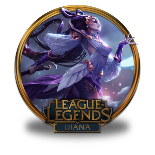 Diana Lunar Goddess Icon League Of Legends Gold Border Iconset