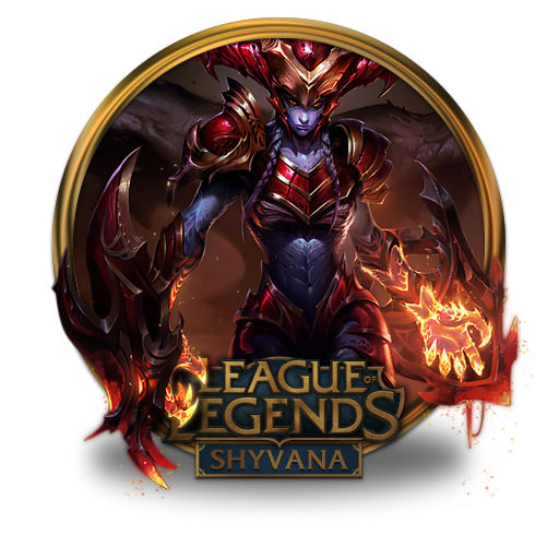 Shyvana Icon Free Of League Of Legends Gold Border Icons