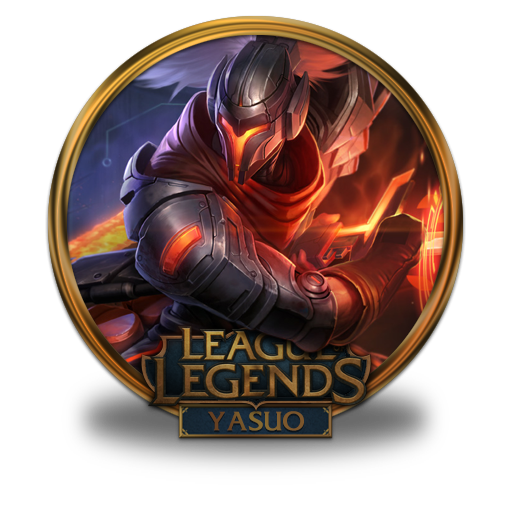 Yasuo Icon League Of Legends Gold Border Iconset