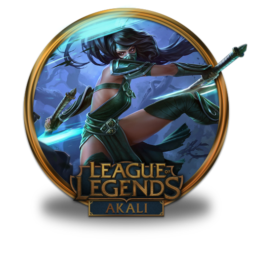 Akali Icon Free Of League Of Legends Gold Border Icons