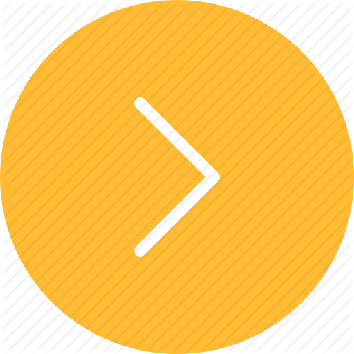 Arrow, Arrows, Circle, Direction, Next, Right, Yellow Icon