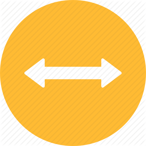 Arrow, Direction, Distance, Left, Move, Right, Yellow Icon