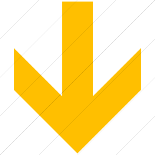 Simple Yellow Aiga Down Arrow Icon
